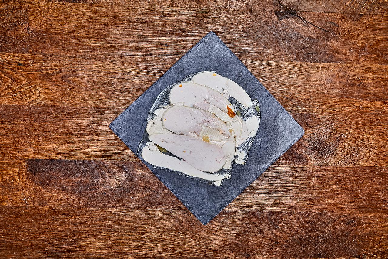 Hähnchen in Aspik / süssliche Sülze mit Speisegelatine vom Schwein