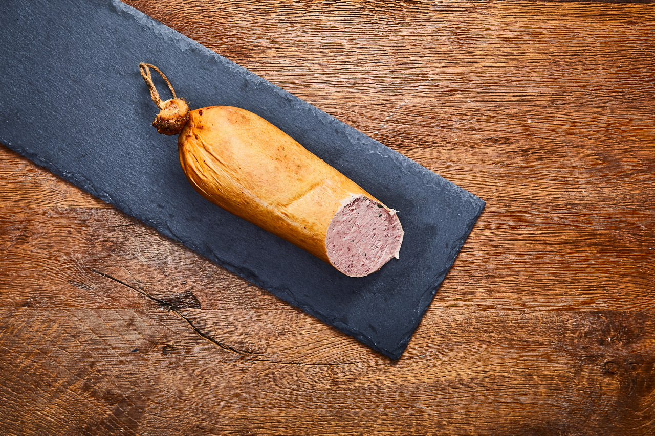 grobe Kalbsleberwurst vom Weidekalb