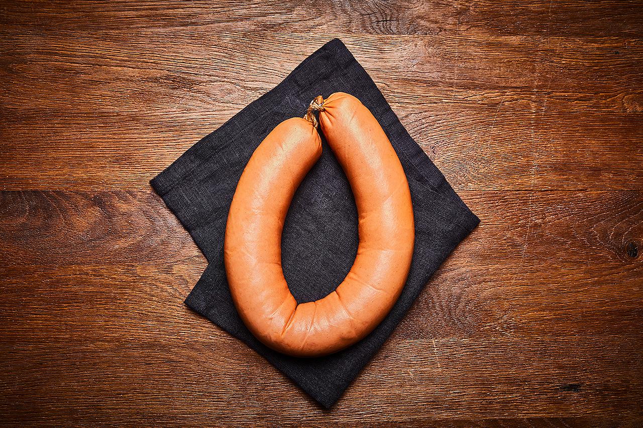 Fleischwurst im Ring ohne Knoblauch